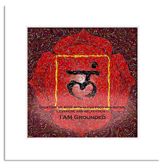 1st Chakra Root Yoga Energy Art Print Shop Erin Designs