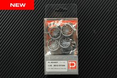 """1/25 2013 GT500 F19"""" R20"""" Wheels and Tires Set"""