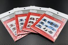 1/25 2010 - 2013 GT500 Racing Stripes Decal Set