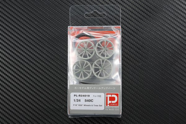 "1/24 540C F19"" R20"" Wheels & Tires set"