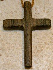 Wood Cross Necklace Lignum Vitae