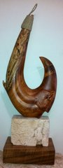 Maui Mahi Circle Fish Hook Sculpture