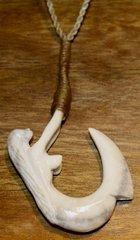 Mermaid Fish Hook Necklace Moose Antler Medium