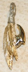 14K Yellow & White Gold Fly Fish Hook Pendant