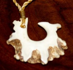 Hawaiian Fish Hook Necklace Whitetail Antler Rosette 06