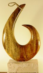 Hawaiian Circle Fish Hook Sculpture Maui Mango