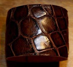 Alligator Skin Cuff Bracelet