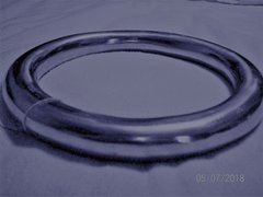 """""""Miss Doctor"""" - 10"""" X 1.4"""" or 254mm X 36mm Very Thick Aluminum Suspension Ring"""