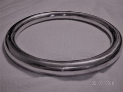 """KissMeDeadleyDoll"" Large Aluminum Suspension Ring 10"" Tall X 1"" Thick"