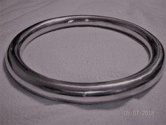"""KissMeDeadleyDoll"" Large Aluminum Suspension Ring 10"" Tall X 1"" Thick"