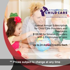 Special Subscription for Small In-Home Day Care Centers With 1-5 Employees