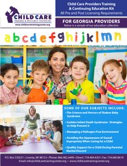 Pre and Post Licensing Requirements - Child Care Providers Training & Continuing Education Kit (Georgia)