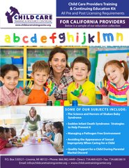 Pre and Post Licensing Requirements - Child Care Providers Training & Continuing Education Kit (California)