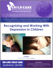 CEU Course 1219 - Recognizing and Working with Clinical Depression in Children