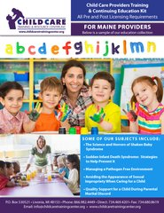 Pre and Post Licensing Requirements - Child Care Providers Training & Continuing Education Kit (Maine)