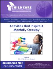 CEU Course 1218 - Activites that Inspire and Mentally Occupy