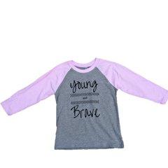 """"""" Young and Brave"""" Kids Raglan"""