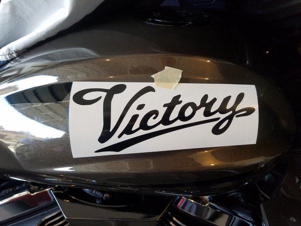 Victory Tank Logo Script Decal Vinyl Victory Things