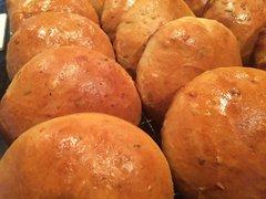 Island Spiced Pork Stuffed Johnny Cakes