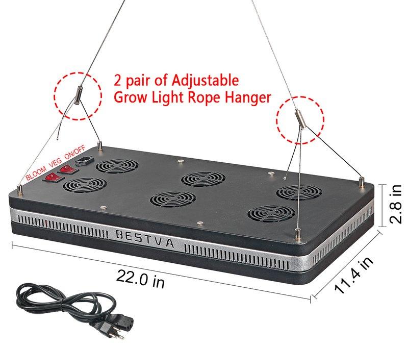 Bestva 2000w Led Grow Light Reflector Full Specturm For
