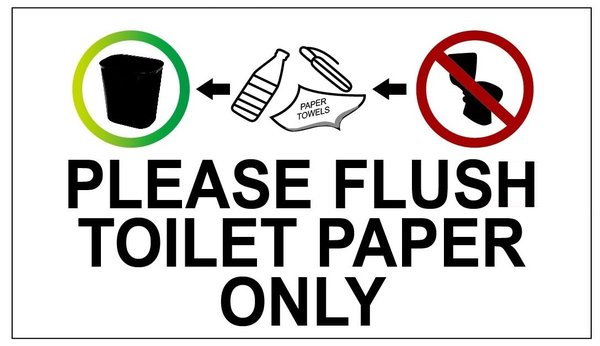 Dob Sign Flush Toilet Paper Only Sign Aluminum Dob Nyc