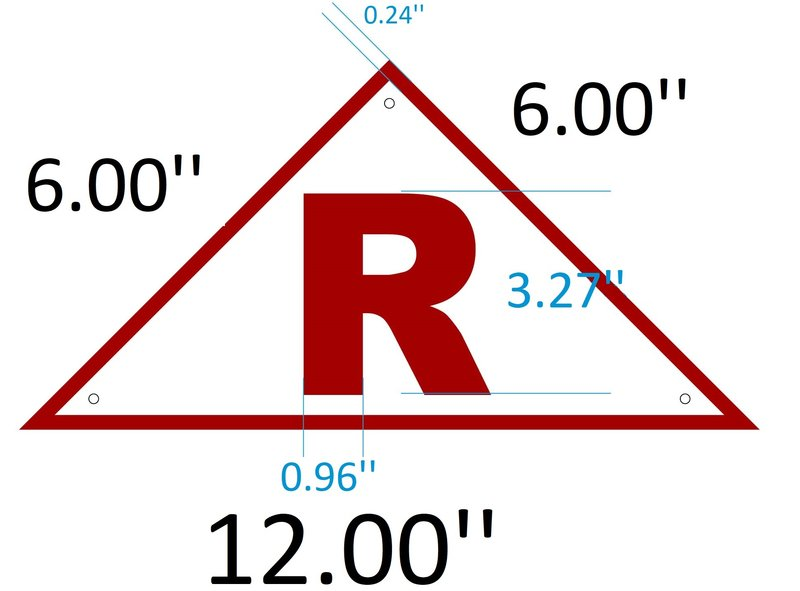 Roof truss identification sign nyc aluminum reflective for Roof truss sign