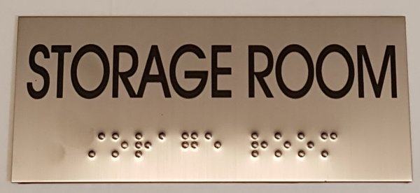 Storage room sign stainless steel hpd signs for Storage room sign