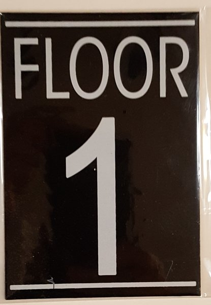 Hpd sign floor number one 1 sign aluminum size for Floor number sign