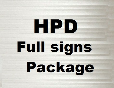 Hpd Required Signs Package By Nyc Hpd Signs The