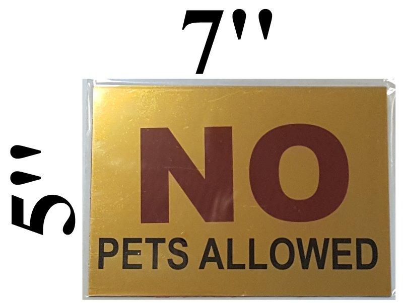 dob no pets allowed sign aluminum sign size 5 x7 adhesive ny