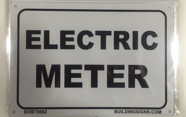 Electric Meter Cans Sign : Dob sign electric meter aluminum nyc hpd
