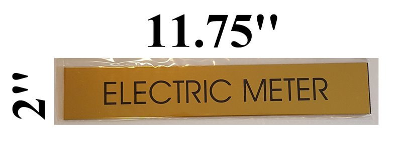 Electric Meter Cans Sign : Dob electric meter sign aluminum size x