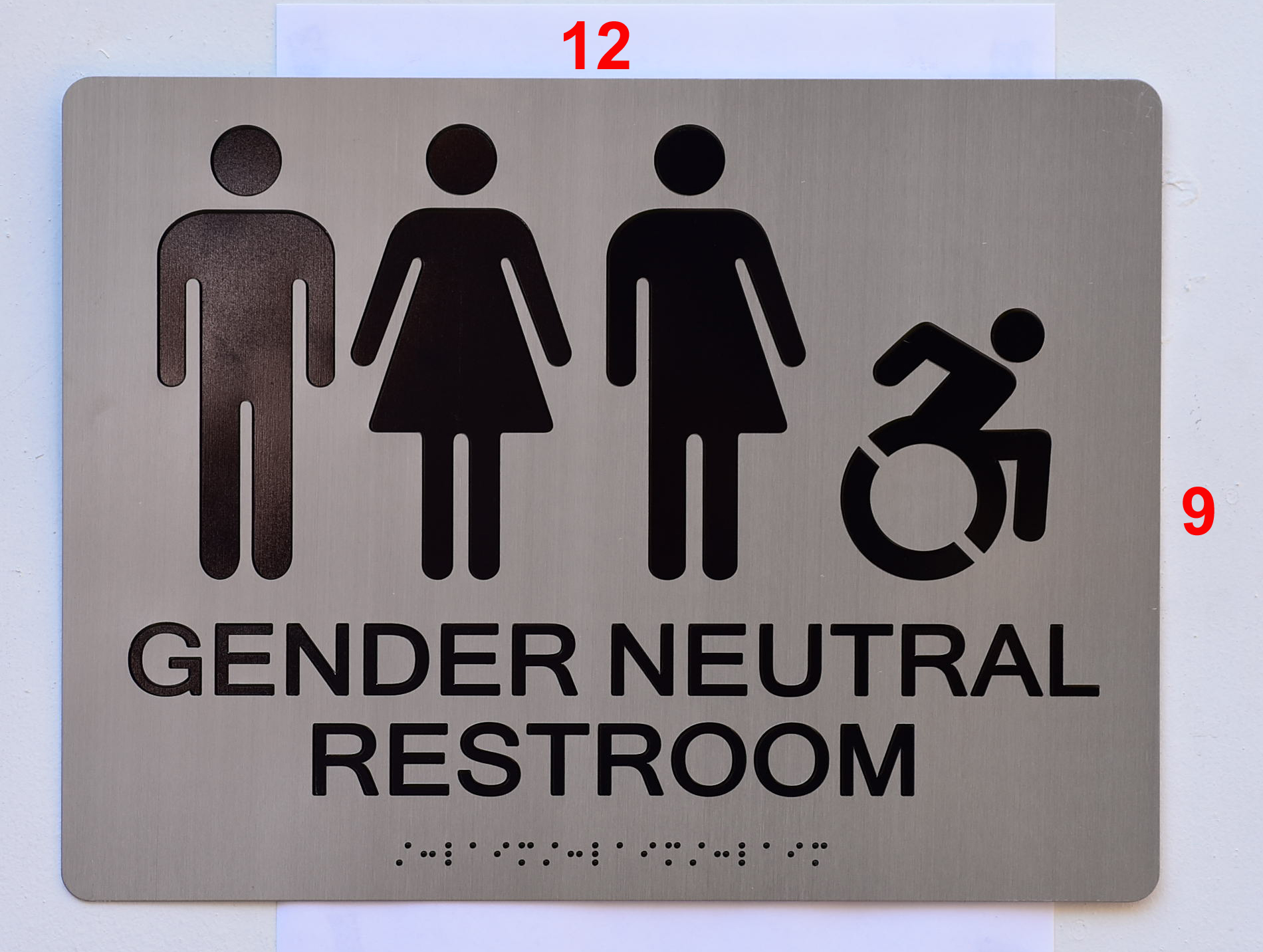 ACCESSIBLE UNISEX RESTROOM ADA SIGNS -The Sensation Line