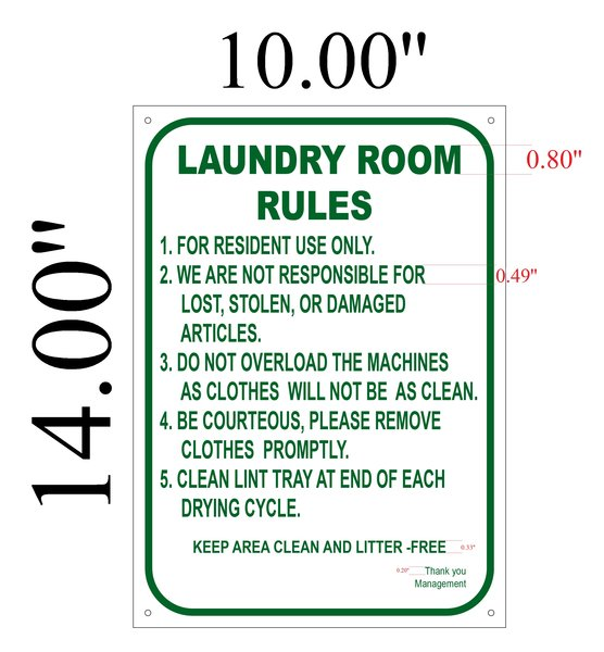 Laundry room rules signs prepossessing laundry room for Room design rules