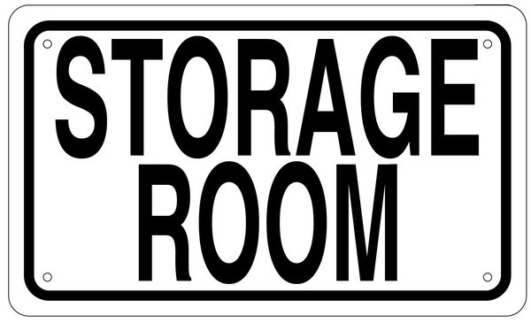 Storage Room Sign 6x10 Hpd Signs The Official Store