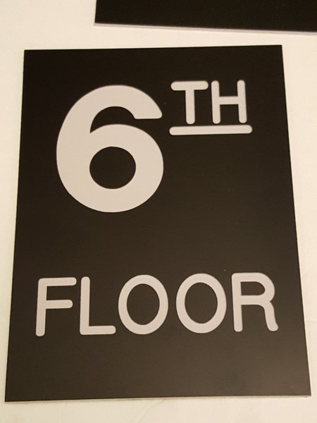 Floor number sign engraved plastic hpd signs the for Floor number sign