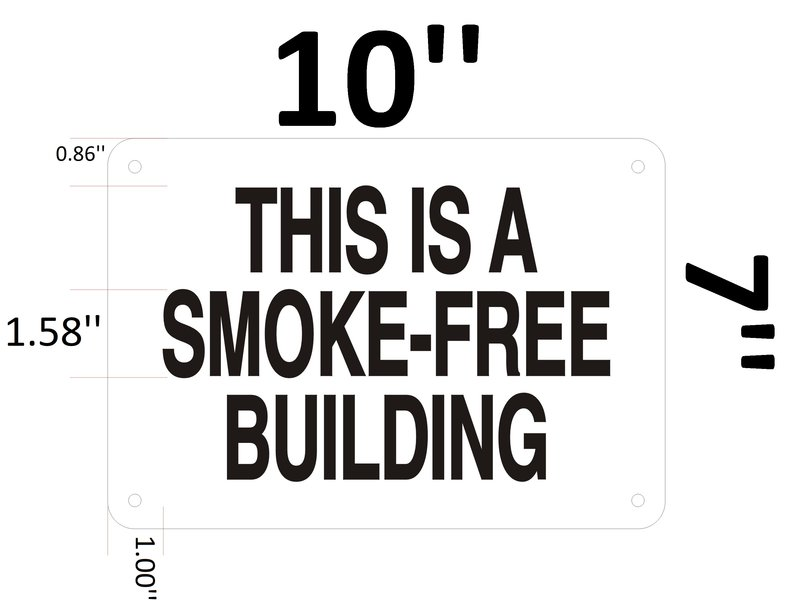 Hpd Sign This Is A Smoke Free Building Sign Hpd Aluminum Signs