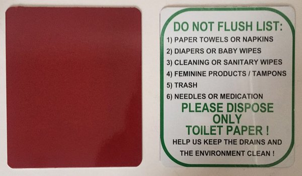 NYC DOB DISPOSE ONLY TOILET PAPER SIGN (ALUMINUM NY SIGN 6 ...