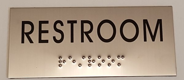 Restroom Sign Stainless Steel Hpd Signs The Official Store
