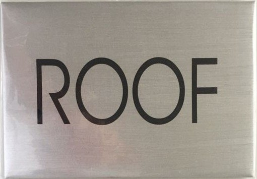 Nyc hpd floor number sign roof sign brushed aluminum 4 for Floor number sign