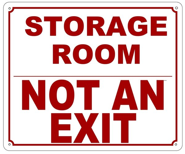 Fdny Sign Storage Room Not An Exit Sign Aluminum Nyc Sign