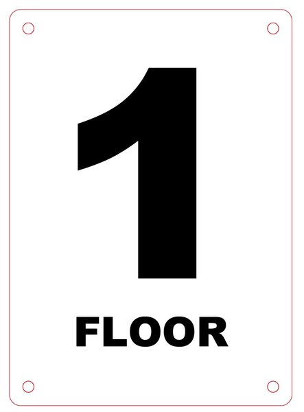 Hpd floor signs hpd signs the official store for Floor number sign