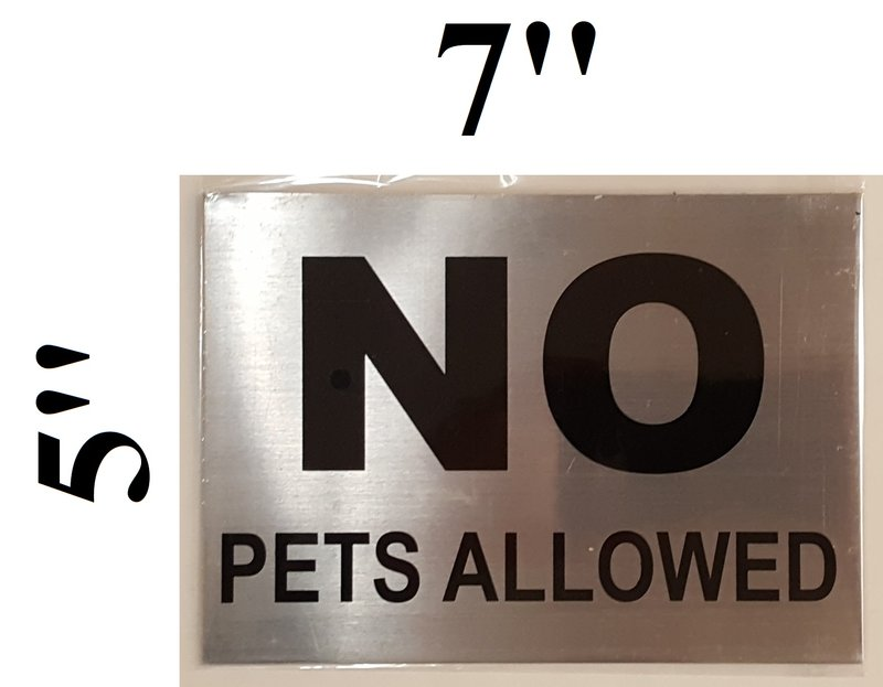 nyc dob no pets allowed sign aluminum sign best for use in nyc
