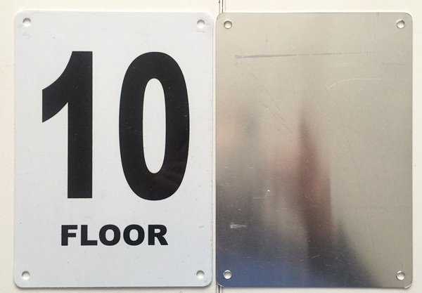 Hpd nyc sign floor number ten 10 sign 5x7 hpd signs for Floor number sign