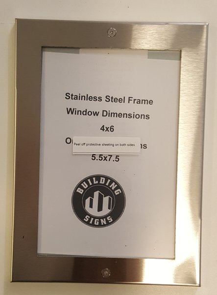 Nyc Elevator Frame Stainless Steel 4 X 6 Hpd Signs