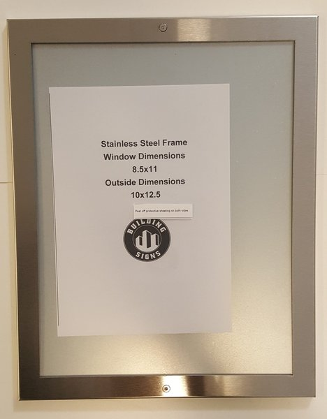 Elevator Notice Frame Stainless Steel Hpd Signs The