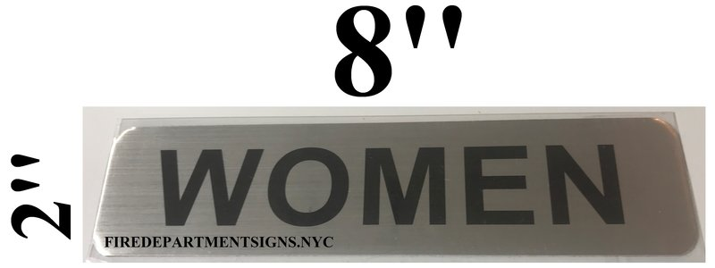 HPD SIGNWOMEN SIGN HEAVY DUTY HPD ALUMINUM SIGNS FOR USE IN NY - Bathroom directional signs