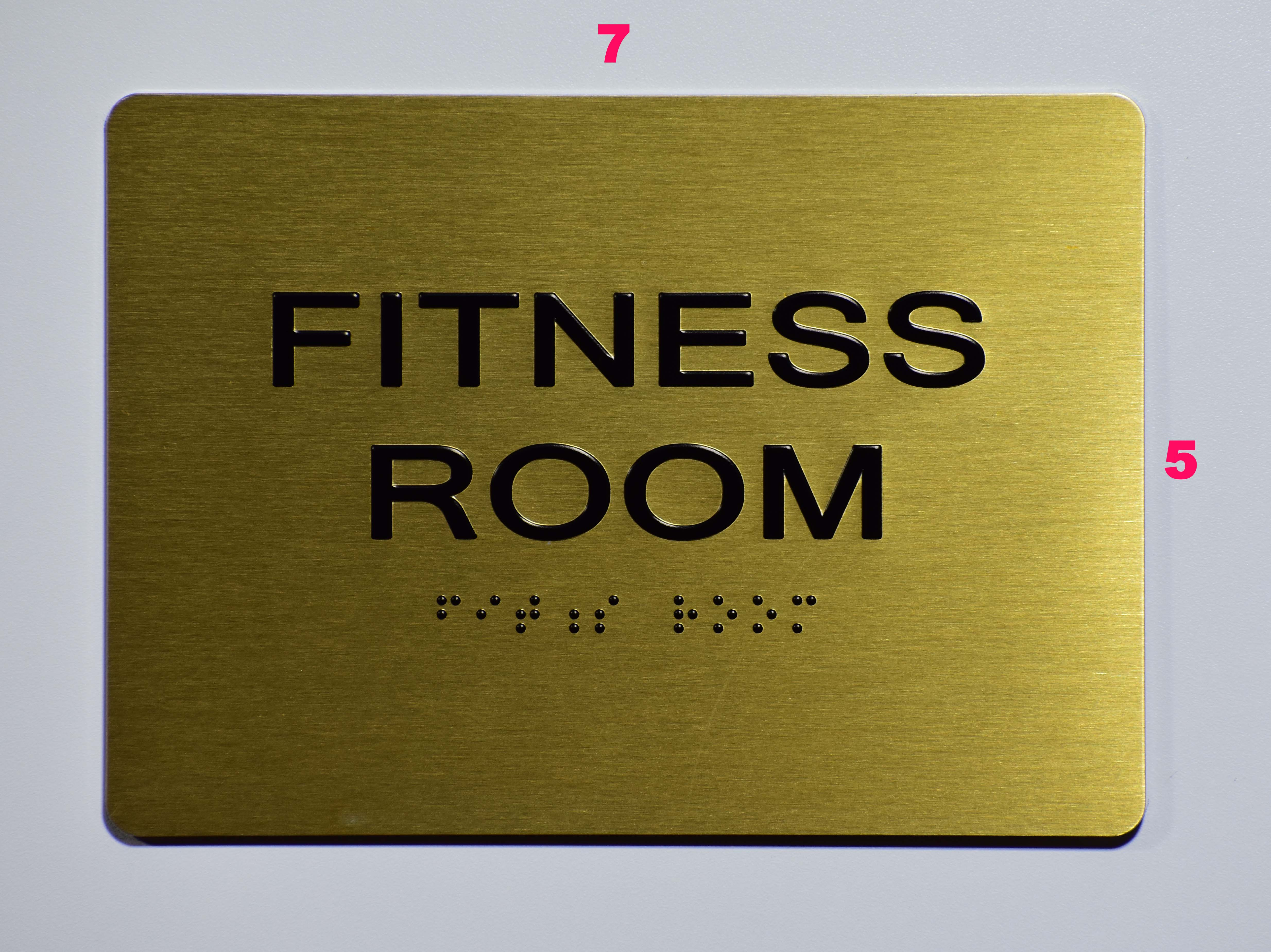 Fitness room sign ada sign the sensation line dob signs nyc