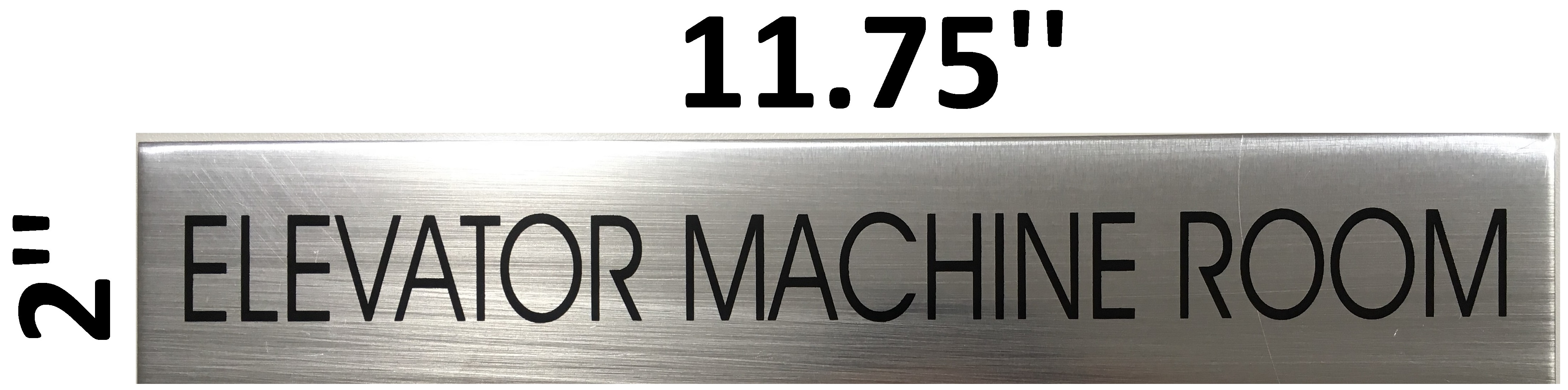 BRUSHED ALUMINUM ELECTRIC METER ROOM SIGN ALUMINUM SIGN SIZED 2/'/'X11.75/'/'