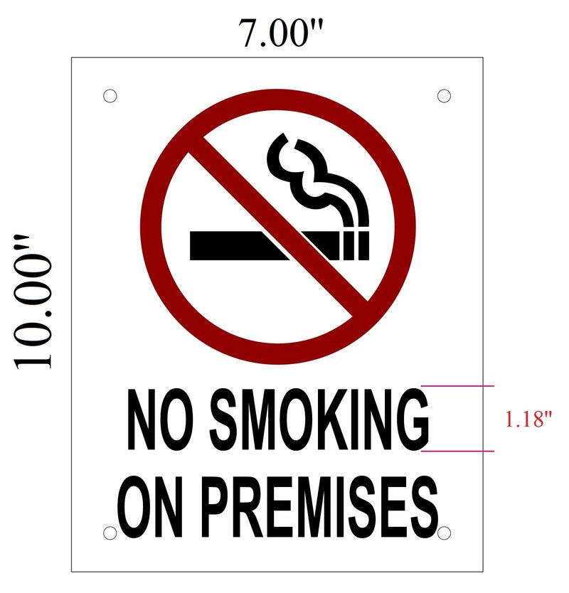 Nyc Fire Department Sign No Smoking On Premises Sign 10x7 Hpd